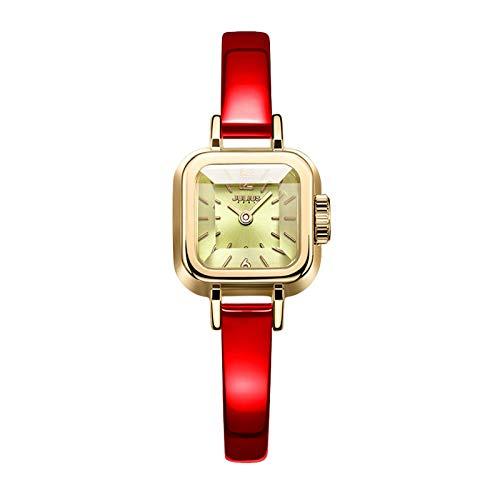 LNNANA Fashion persoonlijkheid snijden spiegel wit-kraag riem vrouwelijke horloge vrouwelijke JA-496