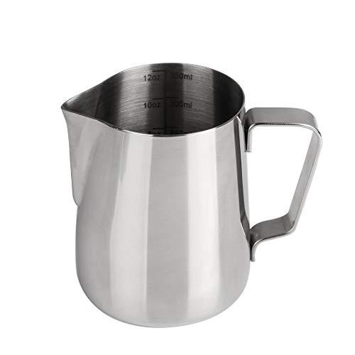 Dianoo Bricco da latte Lattiera Acciaio Inossidabile Brocca Fumante Latte Art Tazza Per Caffè Espresso Cappuccino Con Termometro 350ML