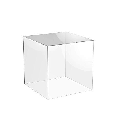 Mimitool Caja de la Caja de la Caja de la Caja de acrílico Transparente de 5 Lados con la Tapa de la Base de acrílico (300 mm x 300 mm x 300 mm) (Size : 300mm x 300mm x 300mm)
