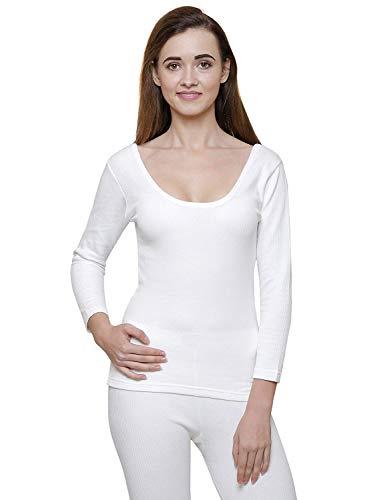 BODYCARE Women's Cotton Solid Thermal Top (B211W_80, Off White, 80 cm/Small)
