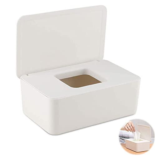 Caja para Toallitas Húmedas Dispensador de Toallitas Humedas Caja de Almacenamiento de Pañuelos con Tapa Prueba de Polvo Caja de Pañuelos Caja de Pañuelos Caja de Servilletas para Oficina en Casa
