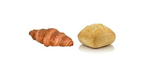 Vestakorn Handwerksbackwaren, Frühstücksbeutel - 3x Frische Brötchen & 2x Frisches Croissants, selbst aufbacken in 6 Minuten