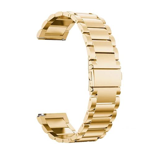 G-RF Bandas De Repuesto para Samsung Galaxy Watch 42mm/ 46mm Tres De Metal De Acero Inoxidable Correa (22mm,Oro)