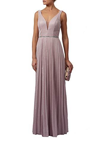 Mascara Rose Rosa Mc129215 Plissierten Rock Schimmern Kleid 38