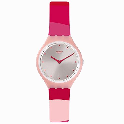 Swatch Skinset SVOP101 Reloj de cuarzo suizo de silicona rosa