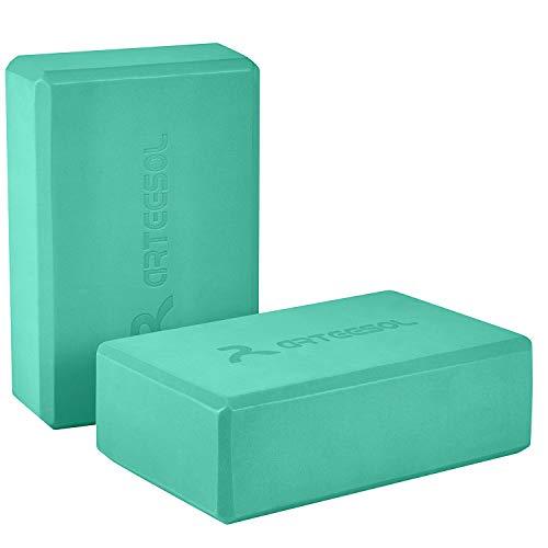arteesol Eva Yoga Block Set, Piedra de Yoga Hecha de Espuma de Alta Densidad con cinturón de Yoga, Accesorios de Yoga para Yoga, meditación, Pilates, Estiramiento 2pack