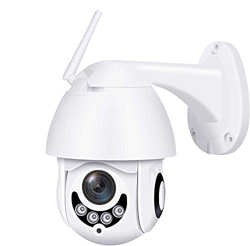 2020 Upgraded Full HD 1080P Security Surveillance Cameras Outdoor Waterproof Wireless PTZ Camera with Night Vision - IP WiFi Cam Surveillance Cam Audio Motion Activated (White)