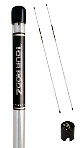 Longridge Golf Practice Aid Tour Rodz Alignment Sticks, weiß