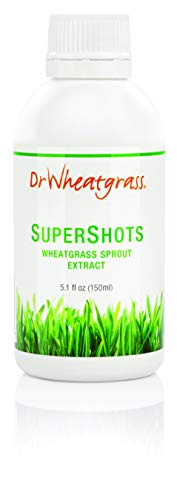 Dr Wheatgrass Supershots(30 Day Supply) - Wheatgrass Juice in a Bottle, Stronger Than Fresh Wheatgrass Juice and Powder
