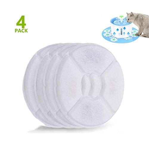 Sexy_Forever Pet Fountain Filter Cat Dog Water Dispenser Premium Activated Carbon Filters 4 Pack