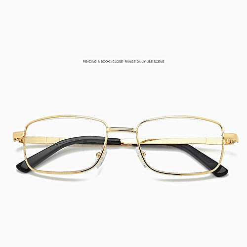 LGMO Lezen Bril Vrouwen, Vintage gouden frame anti-blauw licht bijziendheid leesbril, comfortabele high-end bril