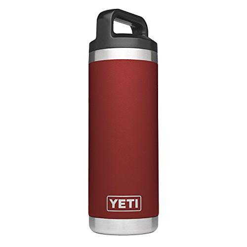 YETI Rambler 18 oz Stainless Steel Vacuum Insulated Bottle, Brick Red