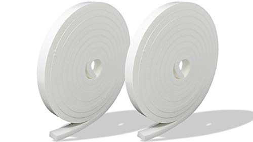 プランプ オリジナル 隙間テープ スキマッチ 白 ホワイト 厚 5 mm × 幅 10 mm × 長 2 m 2個入 日本製 ゴムスポンジ 防水 防音 すきま 窓 玄関 引き戸 隙間