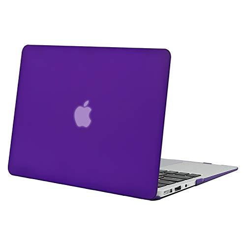 MOSISO Funda Dura Compatible con MacBook Air 13 Pulgadas (A1369 / A1466, Versión 2010-2017), Ultra Delgado Carcasa Rígida Protector de Plástico Cubierta, Violeta