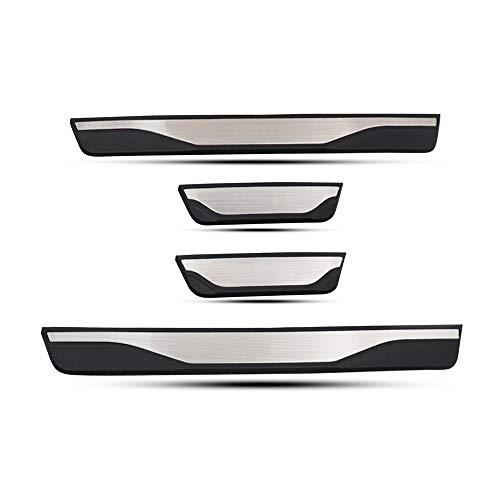 LFOTPP Tiras de umbral de acero inoxidable, accesorios de diseño de automóviles, protección de umbral para Leon [4 unidades]
