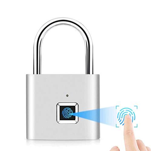 Intelligentes Fingerabdruckschloss USB-Aufladung, wasserdichtes IP65-Vorhängeschloss für Schließfächer, Koffer, Rucksäcke usw. können 10 Sätze von Fingerabdrücken unterstützen.