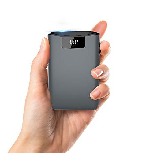 Power bank, Mini Size 10000mAh LED Display Portable Charger, 2 USB output &...
