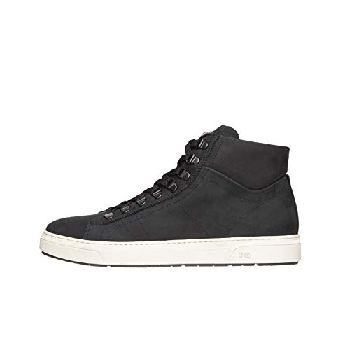 Nero Giardini A800670U - Zapatillas altas para hombre de piel Negro Size: 42 EU