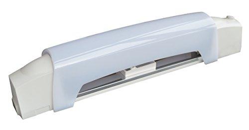 Tibelec 336130 Applique Salle de Bain Blanc avec Tube Halogène + Interrupteur/Diffuseur Plastique