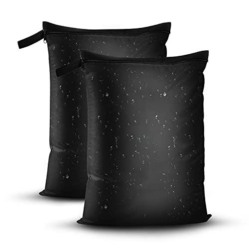 OTraki Wetbag Nasstasche Wiederverwendbar 40 cm x 50 cm mit Reißverschluss 2er Pack, wasserdichte Wet Bag schmutzige Kleidung Tasche für Badeanzüge, Strandtuch, Sportkleidung