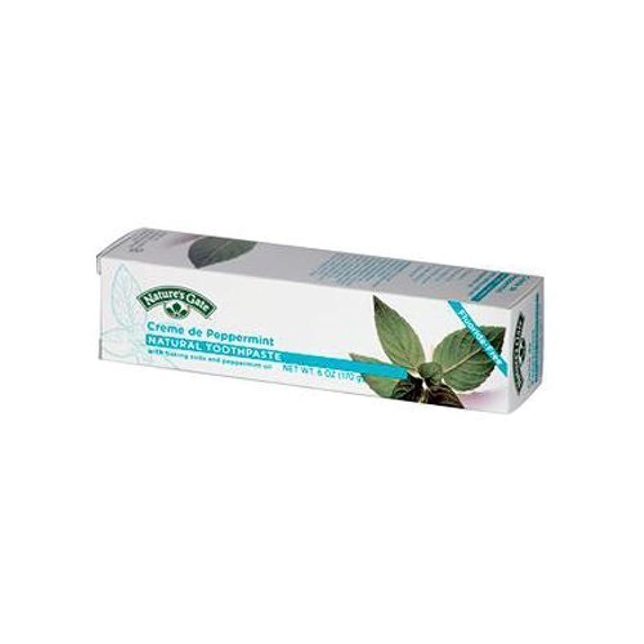 ベギン準備するドライNatures Gate Natural Toothpaste Cr�me De Peppermint - 6 oz - Case of 6 by NATURE'S GATE [並行輸入品]