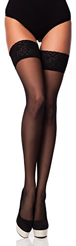 Merry Style Medias Autoadhesivas Finas Panty Lencería Mujer 15 DEN MSSS005 (Nero, M/L (40-44)) (Ropa)