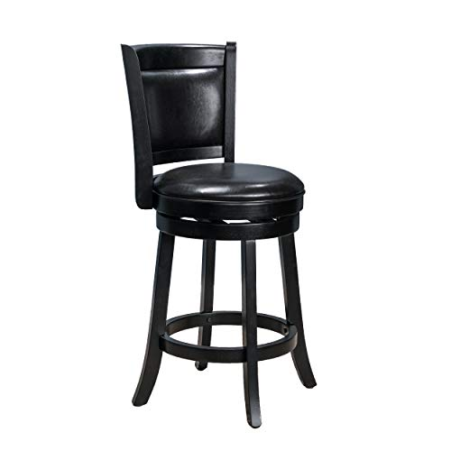 Christopher Knight Home Nazir Reconstituted Leather Swivel Armless Counter Stool, Espresso