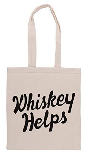 Luxogo Whiskey Helps Einkaufstasche Groceries Beige Shopping Bag
