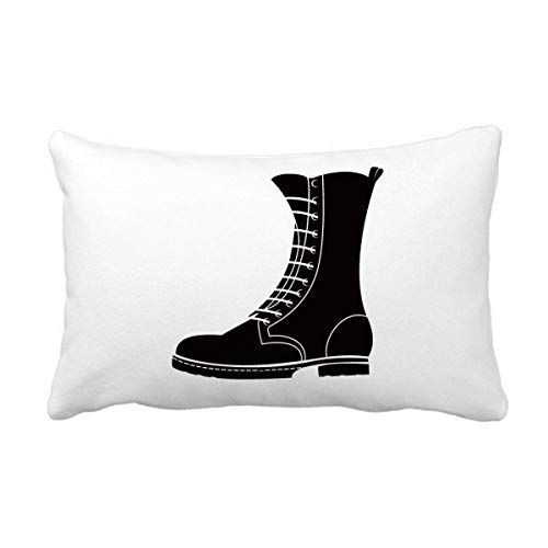 DIYthinker Heren Zwart Hoge Laarzen Silhouette Patroon Gooi Lumbar Kussen Invoegen Kussen Cover Thuis Sofa Decor Gift
