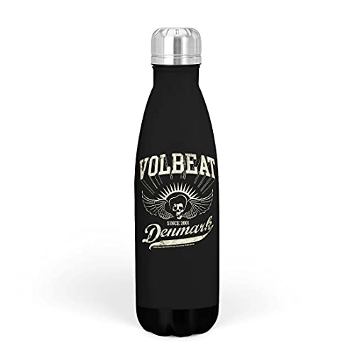 Volbeat Denmark Unisex Thermosflasche Standard Edelstahl 0,5 l Band-Merch, Bands, Musik