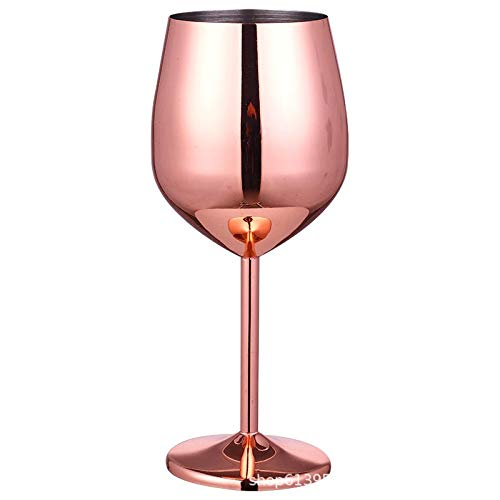 Nuca Stainless Steel Champagne Cup Wine Glass Creative Metal Wine Glass Bar restaurante Goblet Rose Gold