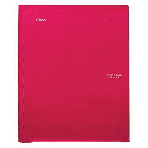 Five Star 2 Pocket Folder with Prong Fasteners, Folder with Pockets, Customizable Cover, Plastic, Color Selected for You, 1 Count (34136)