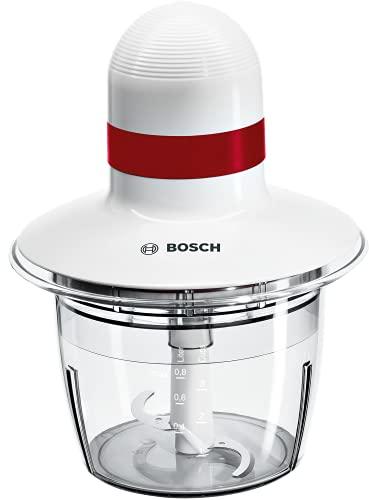 Bosch MMRP1000 Tritatutto Universale, 400 W, 0.8 Litri, 0 Decibel, Plastica, Lame in Acciaio Inox, Bianco