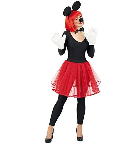 KarnevalsTeufel Damenkostüm Tüllrock Petticoat Tutu Damenrock (Rot, Small)