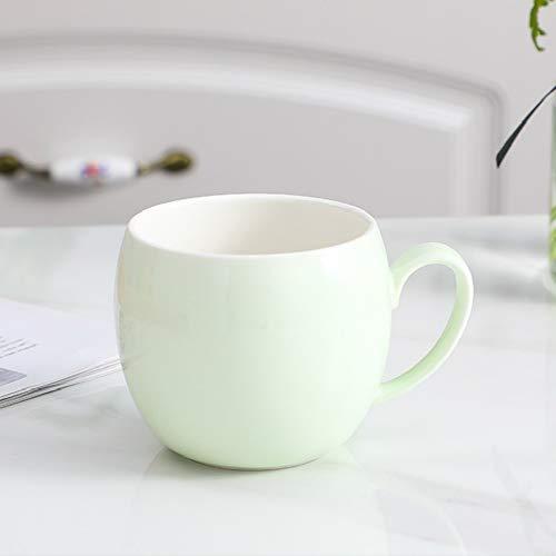 donfhfey827 Taza de Oficina Nueva Simple y Elegante Taza de Agua de cerámica Taza Fresca y Dulce Masa de Leche para niños Simple y nórdica para el hogar con Tapa y Cuchara
