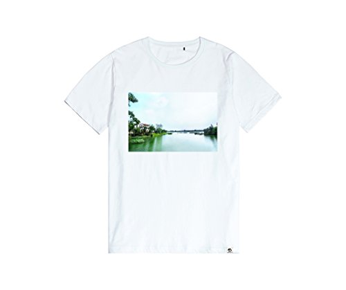 Henry Edward John Regular Fit Comfortable Lake T shirt Mens Trendy Fashionable Daily Top 15