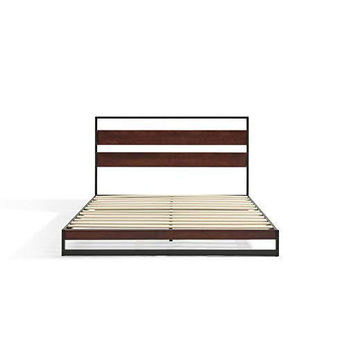 Luuna – Cama Nuevo Léon Metal, color Chocolate, Matrimonial