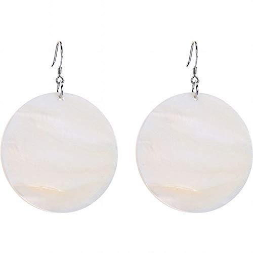 ZRDMN 925 witte schimmel haak minimalisme patroon shell oorbellen vrouwelijke trend stijl temperament pendelaar oorbellen stud oorbellen dangler oorbel sieraden voor vrouwen meisje