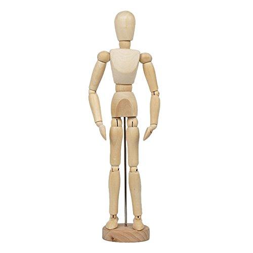 Decorazioni per la casa Artigianato Art Body Painting Dolls Decorazione Modello Giocattoli Libreria Libreria Arredamento (Dimensioni : Large Wooden Man)