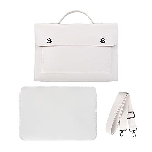 Borsa per laptop per le donne che trasportano cuoio impermeabile 13-14 pollici lavoro a spalla a tracolla con tracolla totata con fodera indipendente rivestimento sottile per macBook Pro Air HP. Lenov