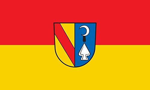 Unbekannt magFlags Tisch-Fahne/Tisch-Flagge: Bahlingen am Kaiserstuhl 15x25cm inkl. Tisch-Ständer