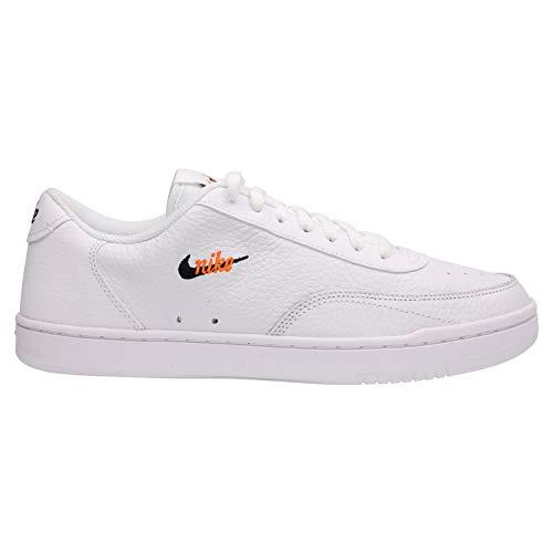 Nike Court Vintage Premium, Zapatillas de Gimnasio Hombre, White/Total Orange/Black, 38.5 EU