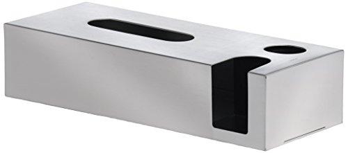 Blomus 68689 Kombibox Nexio für Kosmetiktücher, Wattestäbchen & Pads, Edelstahl matt