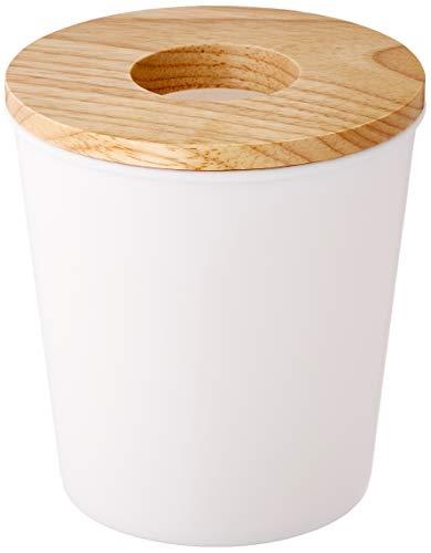 Opportunity 26B12050100 Poubelle Coton Soft, Autre, Bois/Blanc, 13 cm