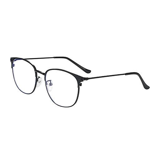 Aroncent Blaulichtfilter Brille Nerdbrille Pantobrille Ohne Stärke Rund Rahmen Computer Brille Unisex