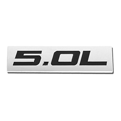UrMarketOutlet 5.0L Black/Chrome Aluminum Alloy Auto Trunk Door Fender Bumper Badge Decal Emblem