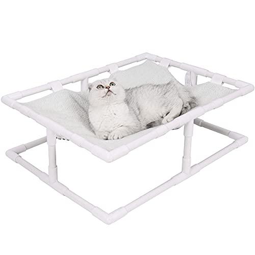 Yiwong Cama Elevada para Perros y Gatos, Cama Hamaca para Mascotas Portátil para Interiores y Exteriores Reversible, Cama Universal para Gatos Four Seasons