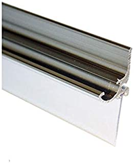 "Chrome Framed Shower Door Replacement Drip Rail with Vinyl Sweep - 32"" Long"