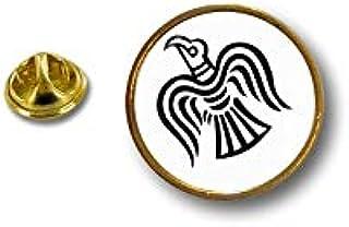 Akacha Spilla Pin pin's Spille Badge Bandiera aucello Corvino Odin Vichingo vinland r2