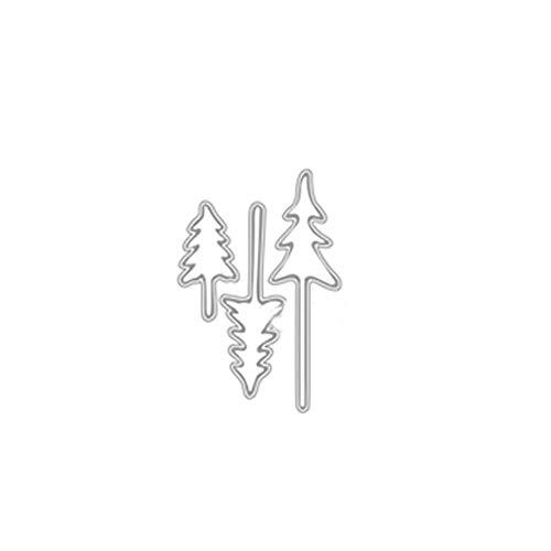 happyhouse009 Tragbare Stanzformen, Weihnachtsbaum-Stanzformen, DIY, Scrapbooking, Prägung, Papier, Karten, Album, Schablone Silver